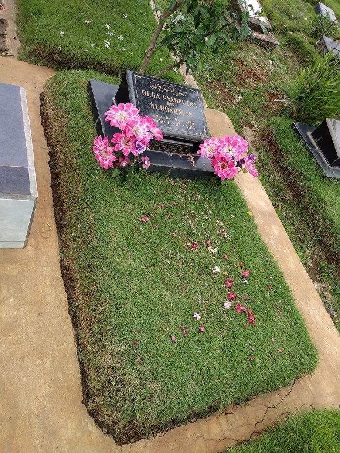 Makam Olga Syahputra yang terletak di TPU Malaka, Jakarta Timur.