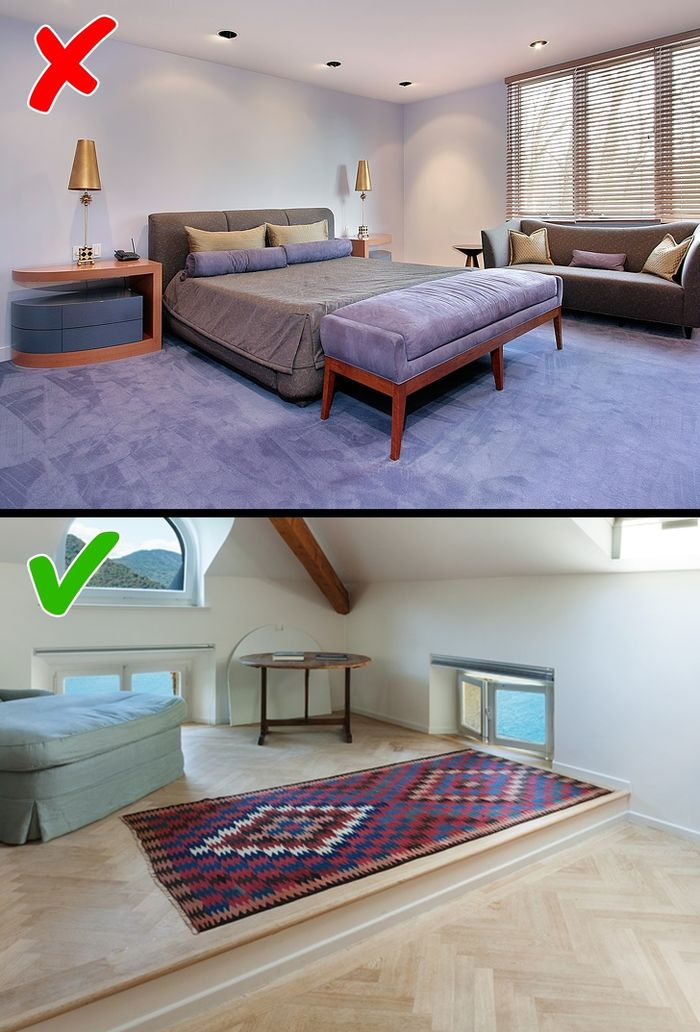 karpet yang menutupi seluruh lantai