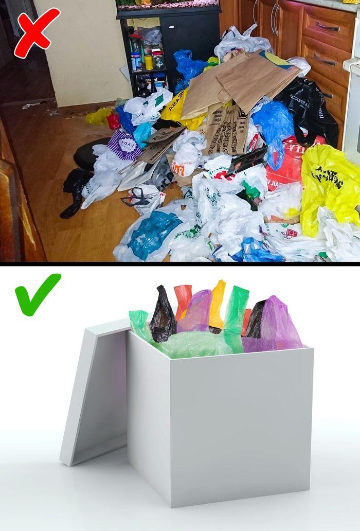 jangan membiarkan kantong plastik berserakan