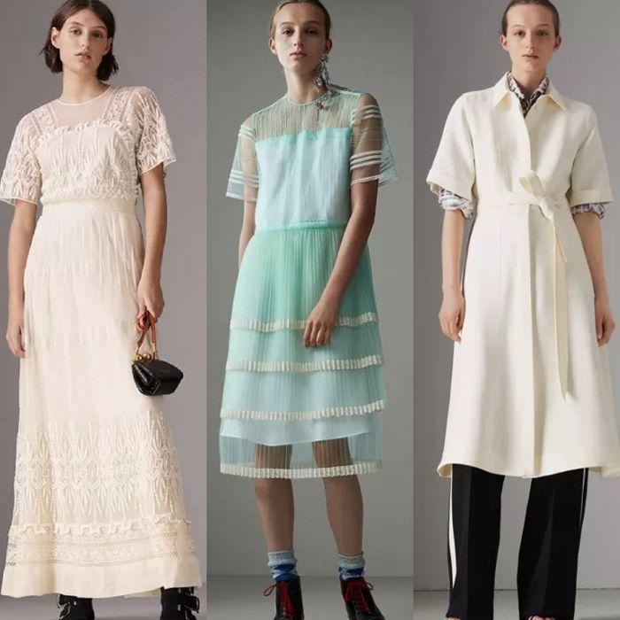 Beberapa contoh gaun dari Burberry