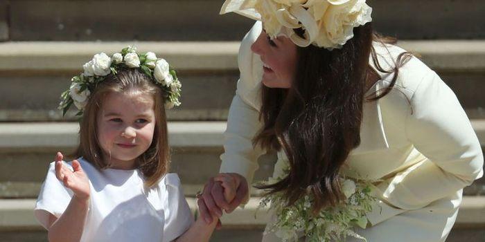Putri Charlotte saat mengenakan baju bridesmaids
