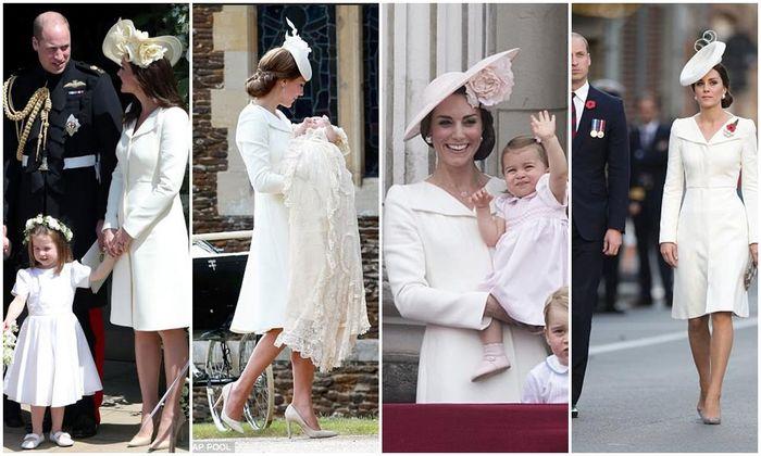Kate Middleton tertangkap kamera sudah mengenakan coat dress rancangan Alexander McQueen ini sebanya
