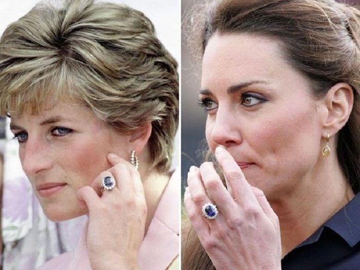 cincin tunangan Putri Diana yang sekarang dipakai Kate Middleton