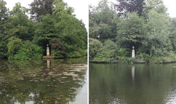 kiri: sebelum direnovasi, kanan: setelah direnovasi
