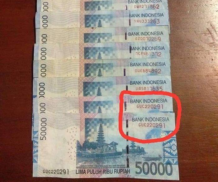 nomor seri uang sama
