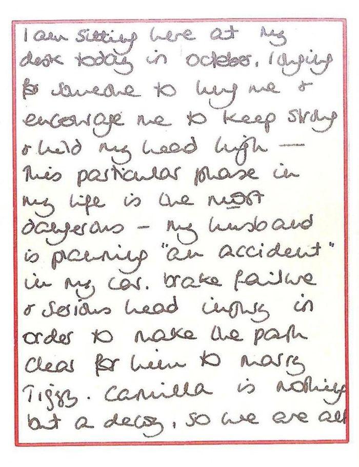 Tulisan tangan Diana