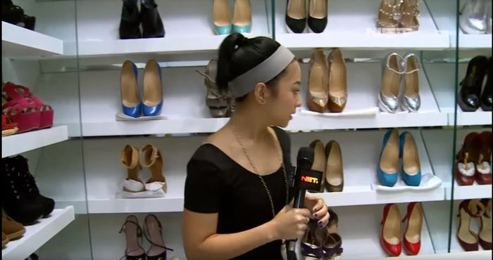 Ruangan khusus koleksi sepatu Nikita Willy | Net Entertaintment News