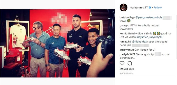 Instagram Marko Simic dibanjiri netizen