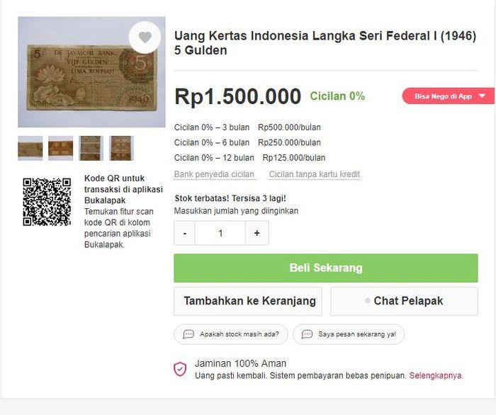 Uang lawas Indonesia yang punya harga menggila
