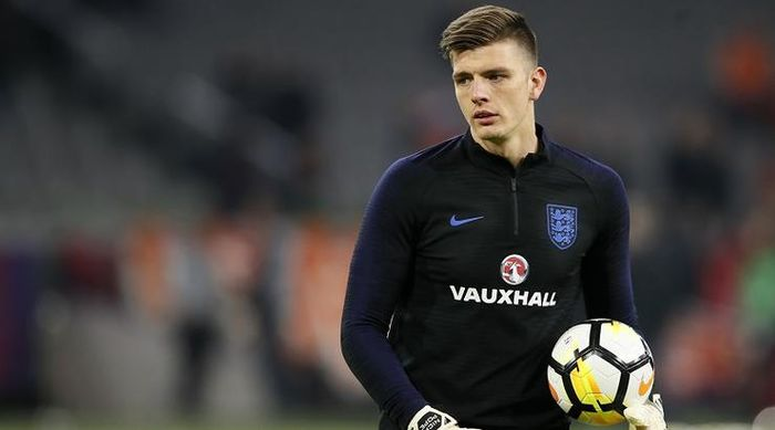 England's Nick Pope in action during the International Friendly match at the Amsterdam Arena, Amster
