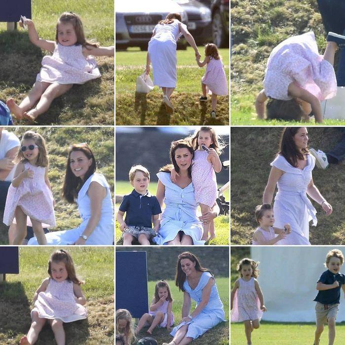 Kate,George dan Charlotte menghabiskan waktu bersama