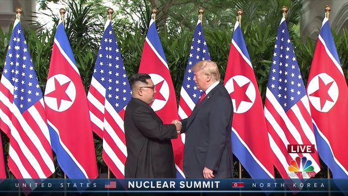 Donald Trump dan Kim Jong Un.