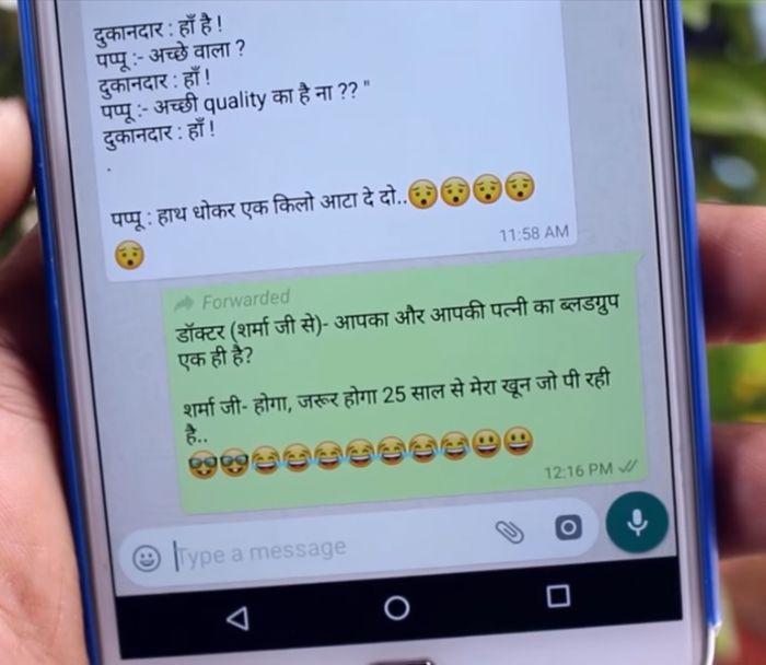cara membuat label forwarded pada WhatsApp