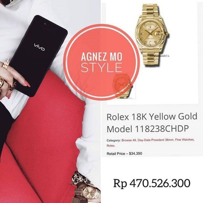 Koleksi jam tangan mewah Agnez Mo