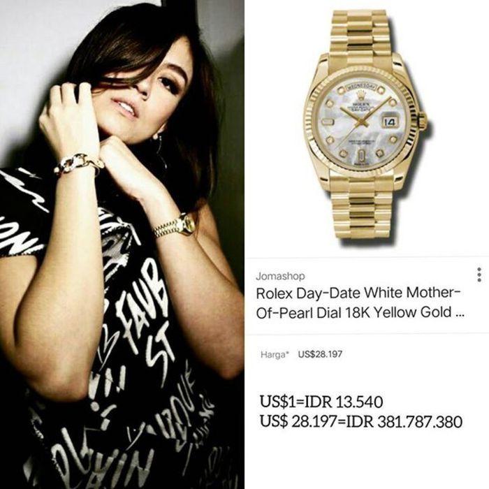Koleksi jam tangan milik Agnez Mo
