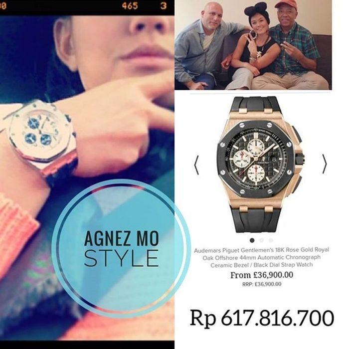 Koleksi jam tangan milik Agnez