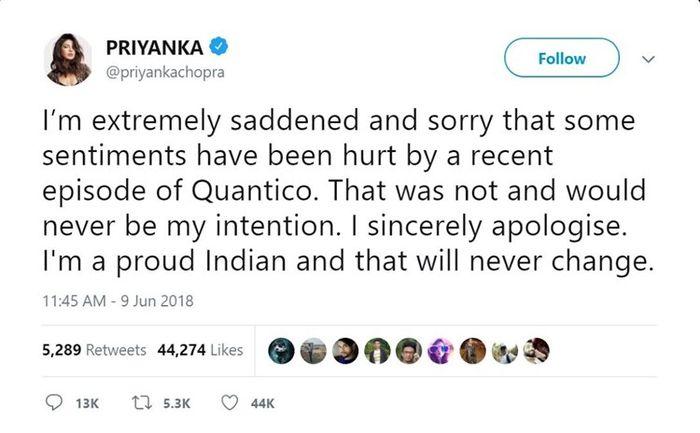 Priyanka Chopra Meminta Maaf