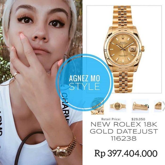 Koleksi jam tangan mewah milik Agnez Mo