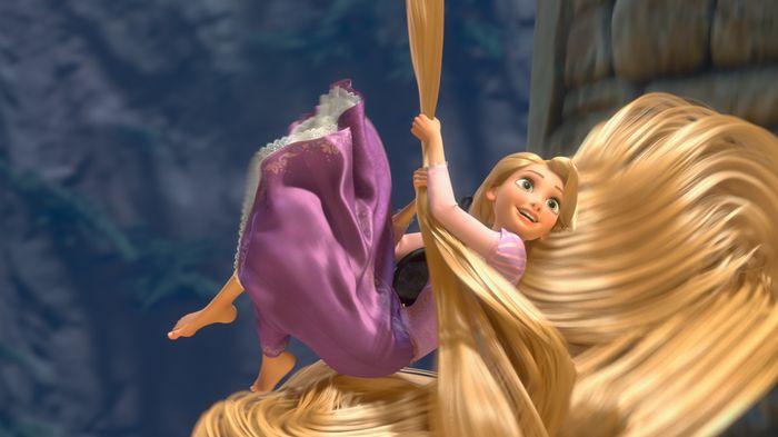 Panjang rambut Rapunzel mencapai 21 meter.