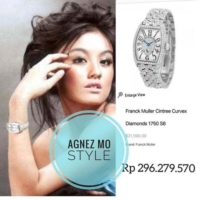 Koleksi jam tangan Agnez Mo