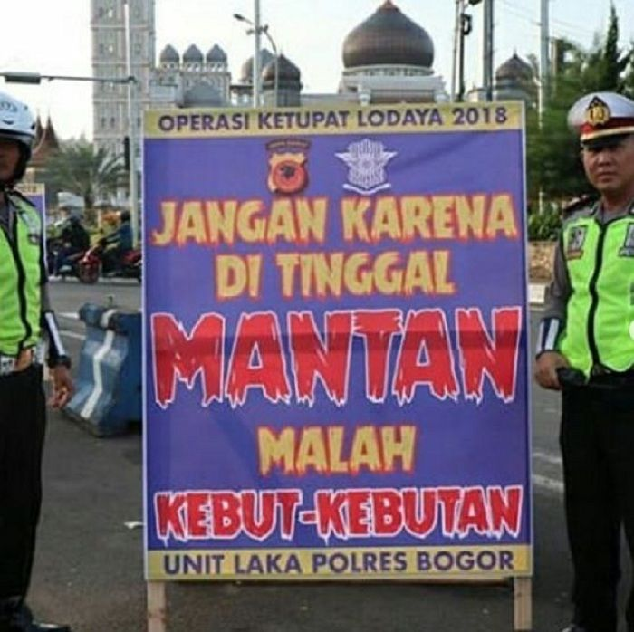 Imbauan lucu dari polisi