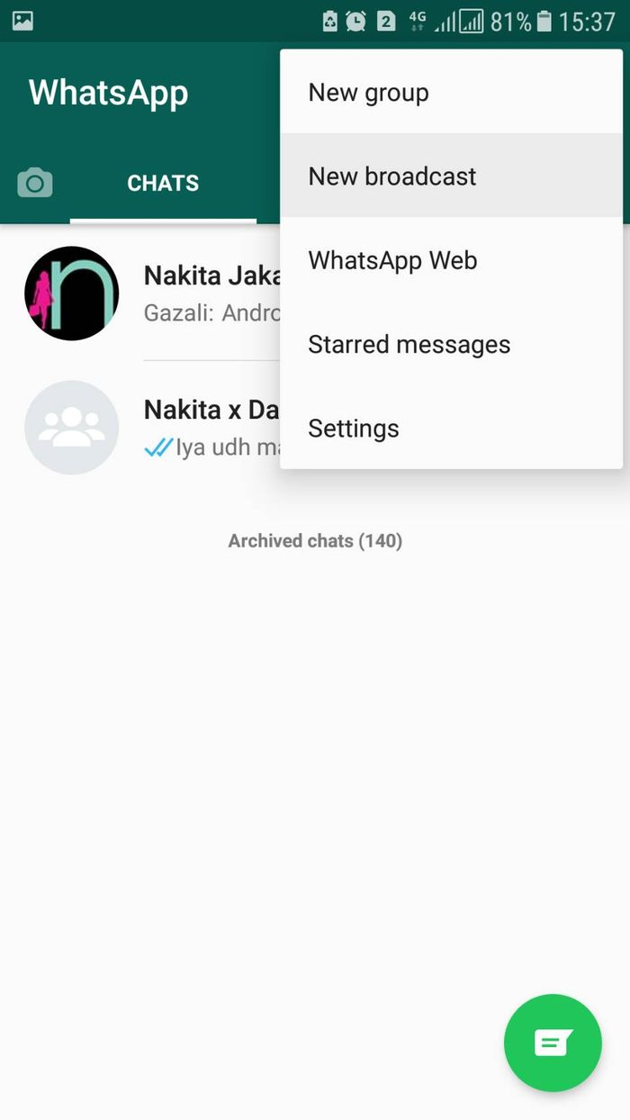 Cara Kirim Ucapan Idul Fitri Ke Semua Teman Di Whatsapp Serentak Langsung Tuntas Semua Halaman Nakita