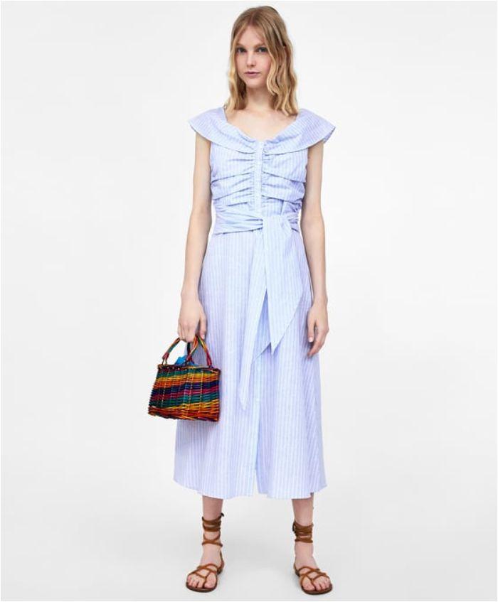 Dress yang dikenakan Shandy Aulia dan Kate Middleton dari brand Zara