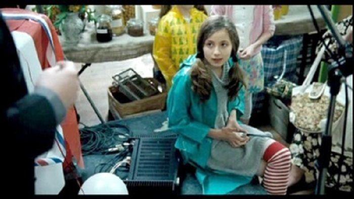 Lilly Sastry Atkinson saat mengambil bagian film ayahnya.