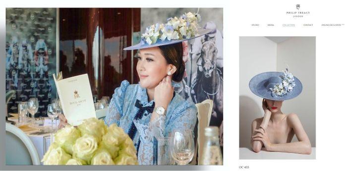 Topi yang dikenakan Maia saat datang ke Royal Ascot