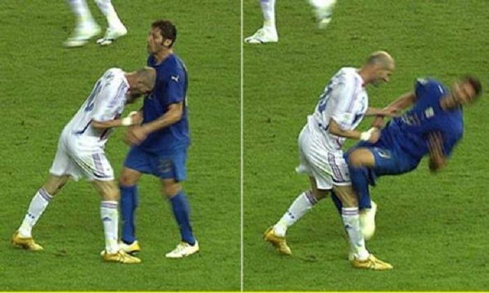 Zidane menanduk Materazzi.