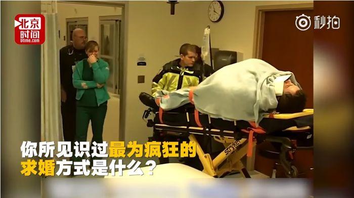 Seorang perawat di Amerika Serikat menangis saat kekasihnya datang sebagai pasien gawat darurat