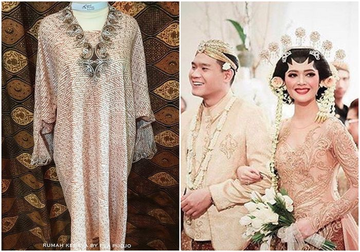 Warna champagne disebut perancang kebaya Eva Pudjojoko dari Rumah Kebaya merupakan warna yang tengah diminati oleh calon pengantin.