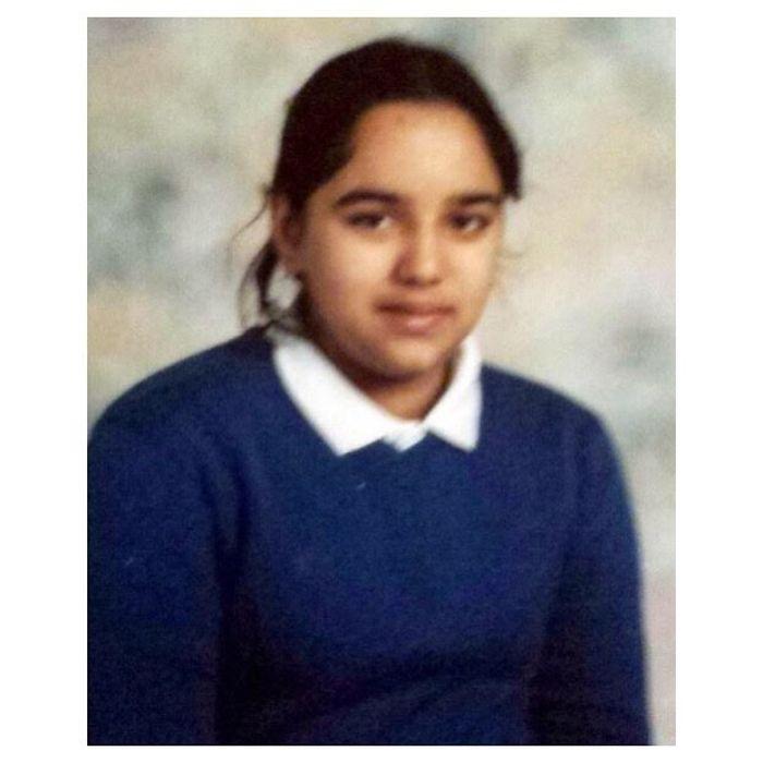 Kaur membagikan foto masa sekolahnya