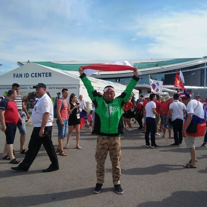 Roy Sunandar menonton piala dunia di Rusia