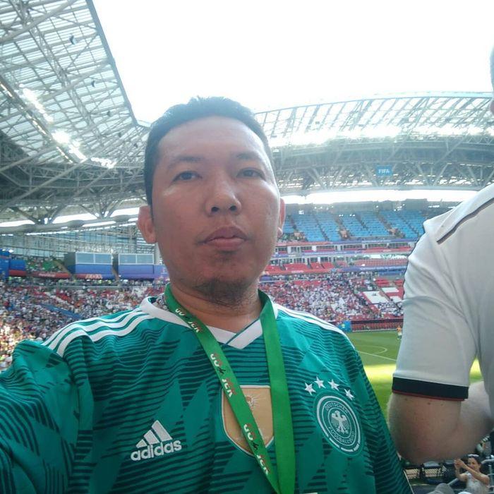 Roy Sunandar, menonton langsung Piala Dunia di Stadion Kazan Arena, Rusia