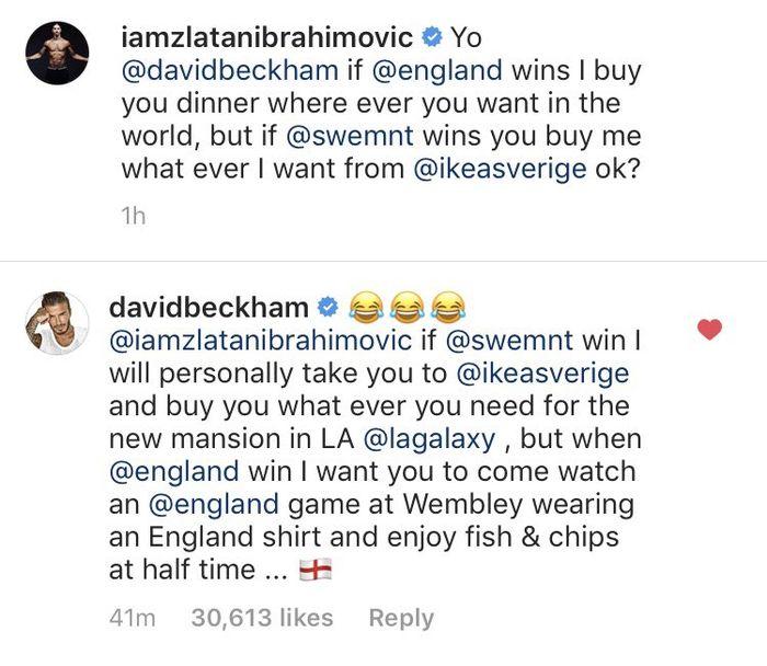 Taruhan Ibrahimovic dan Beckham