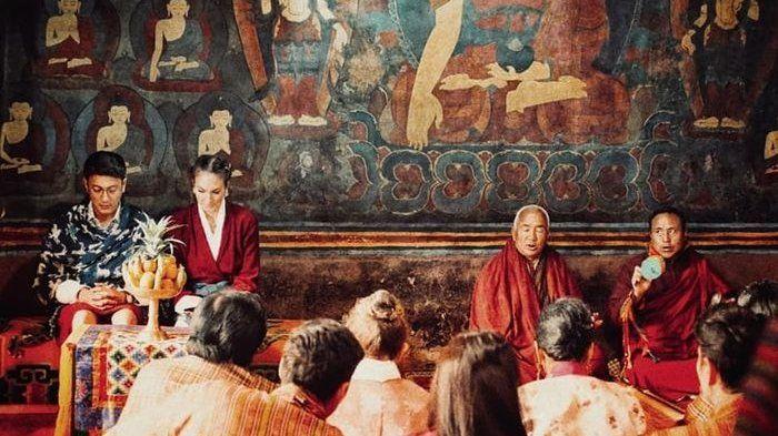 Pernikahan Nadine dan Dimas Anggara saat di Bhutan