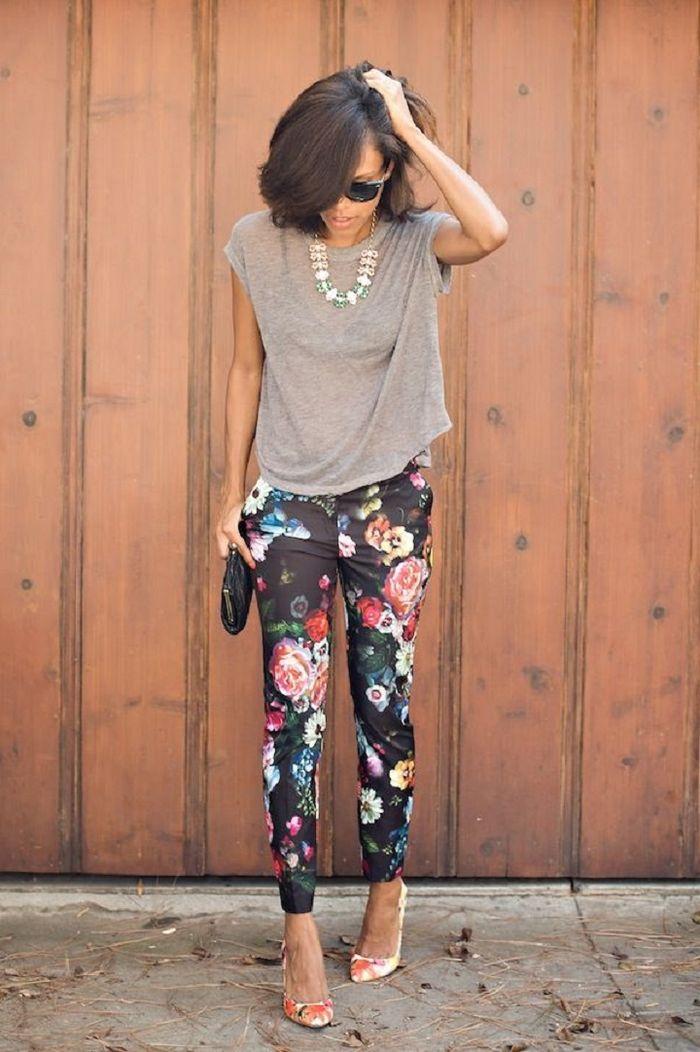 floral pants + floral heels