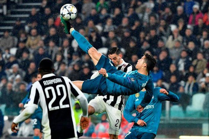 Cristiano Ronaldo saat melawan Juventus