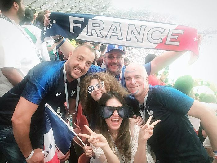 Via Vallen nonton final Piala Dunia