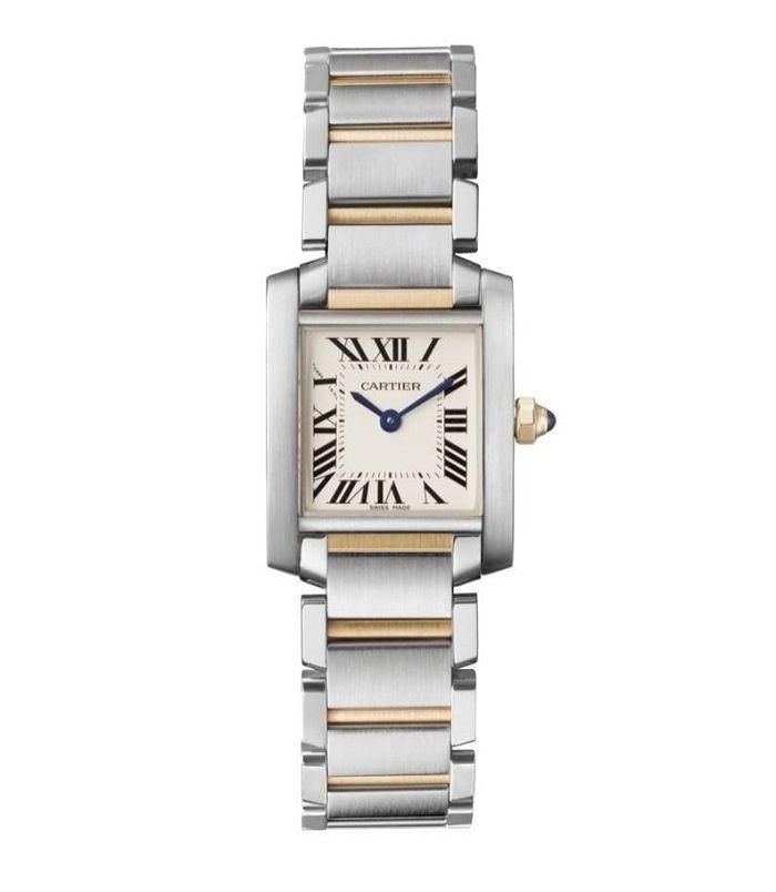 Arloji mewah bermerek Cartier.