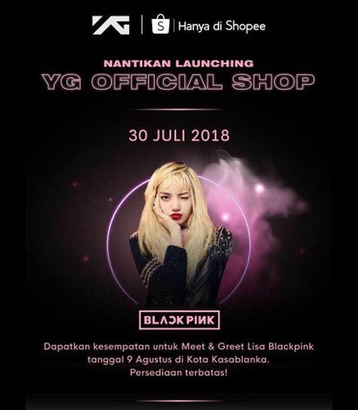 poster Meet and Greet Lisa BLACKPINK