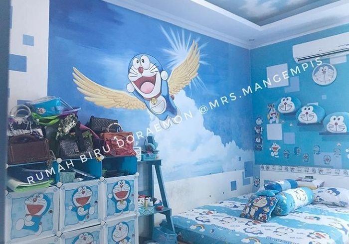 Begini Tampilan Rumah Doraemon Yang Viral Diliput Media