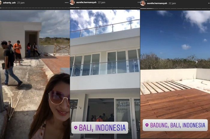 Suasana lantai atas villa keluarga Anang Hermansyah Instagram/aureliehermansyah ()