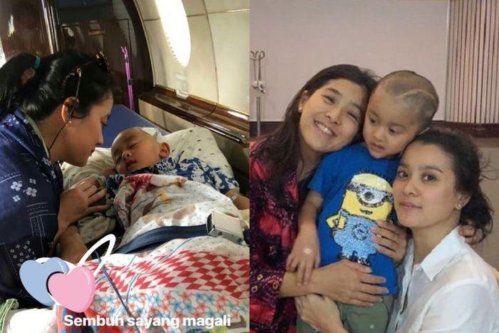 Magali, putra Marcella Zalianty yang mengidap tumor otak