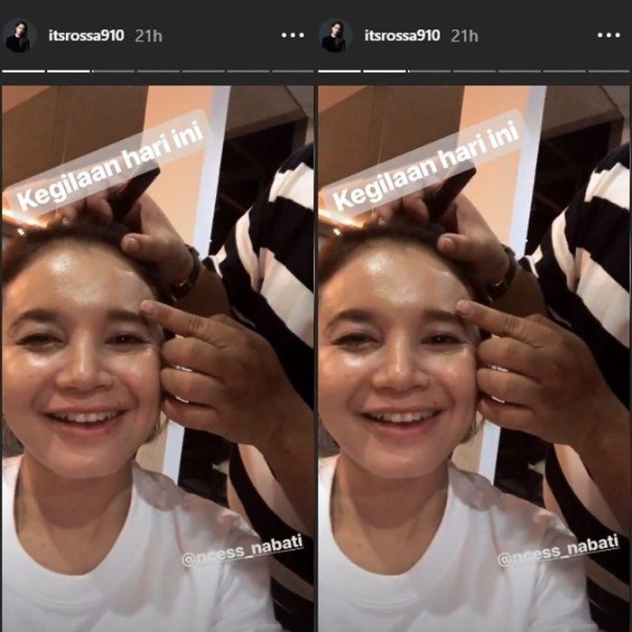 Rossa tanpa make up - Instagram Rossa