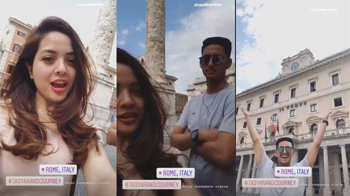 Tasya Kamila dan Randi Bachtiar berlibur ke Roma
