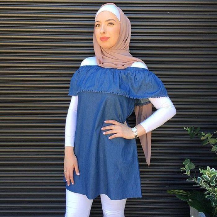 off shoulder hijabers
