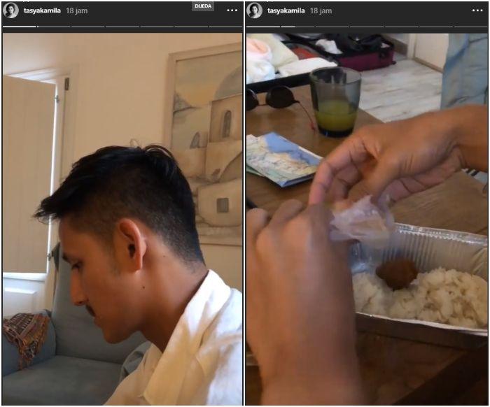 Tasya Kamila bagikan video suaminya pergi kemana pun tetap makan rendang