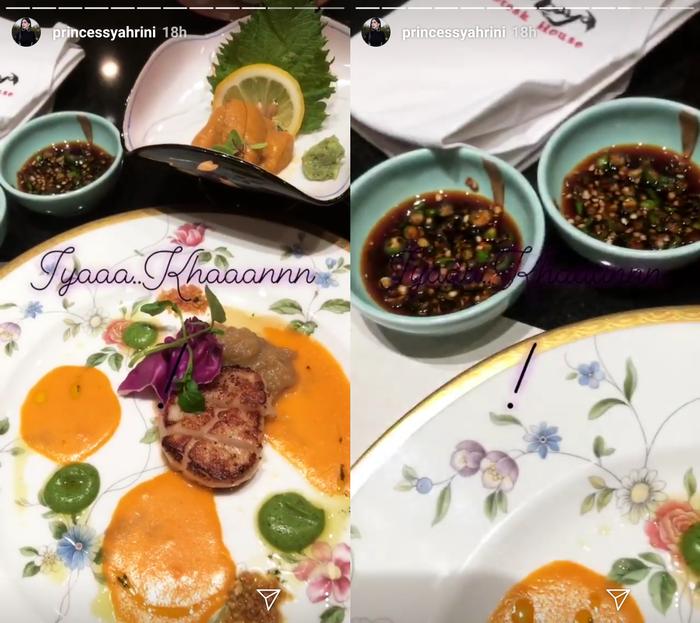 Hidangan foie gras yang disantap oleh Syahrini